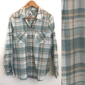 Joie Cotton Plaid Button Down Shirt